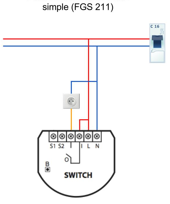 Anschluss Fibaro Relay-Switch 1x-2-5kw - Z-Wave - homee | Community