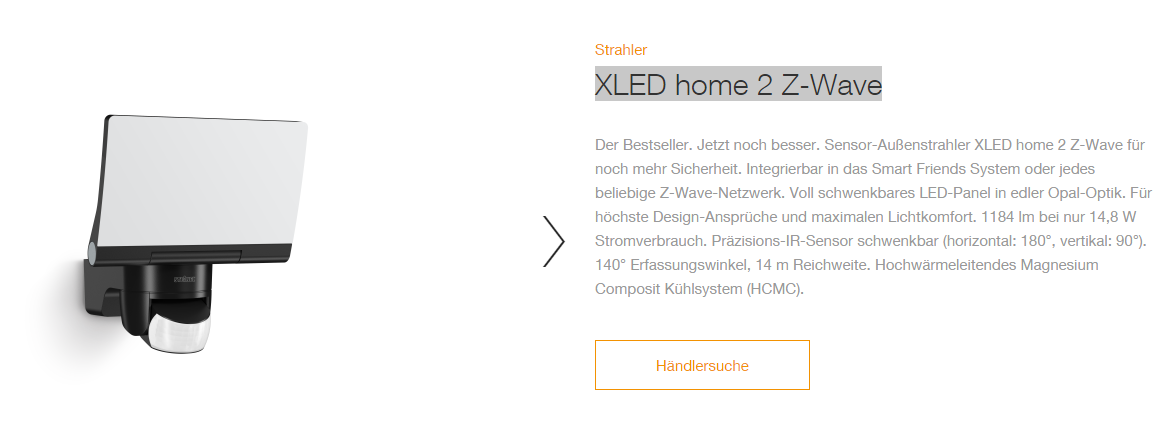 erfahrungen mit au enleuchte steinel xled home 2 z wave smart home welt homee community. Black Bedroom Furniture Sets. Home Design Ideas