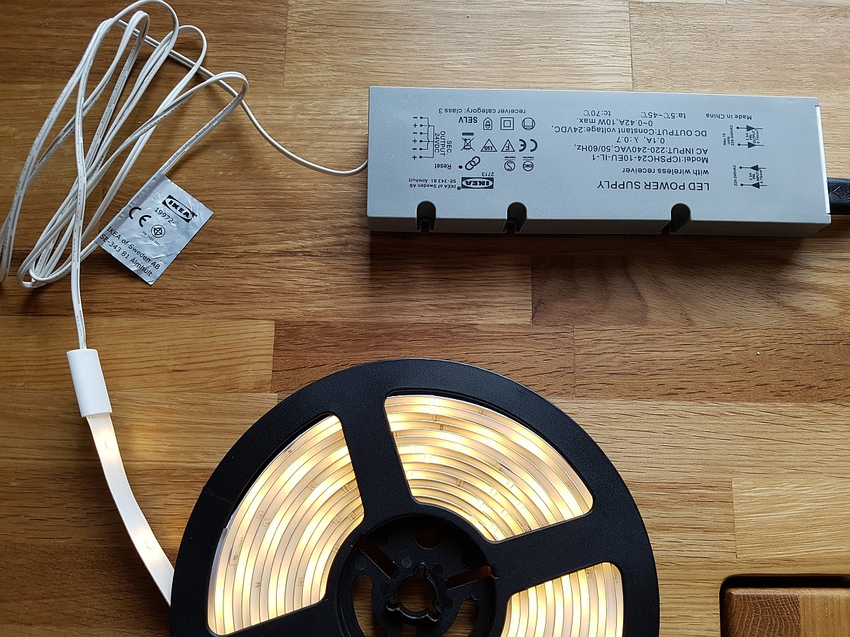 Ikea Hack Ledberg Led Strip Goes Tradfri Smart Home Welt Homee