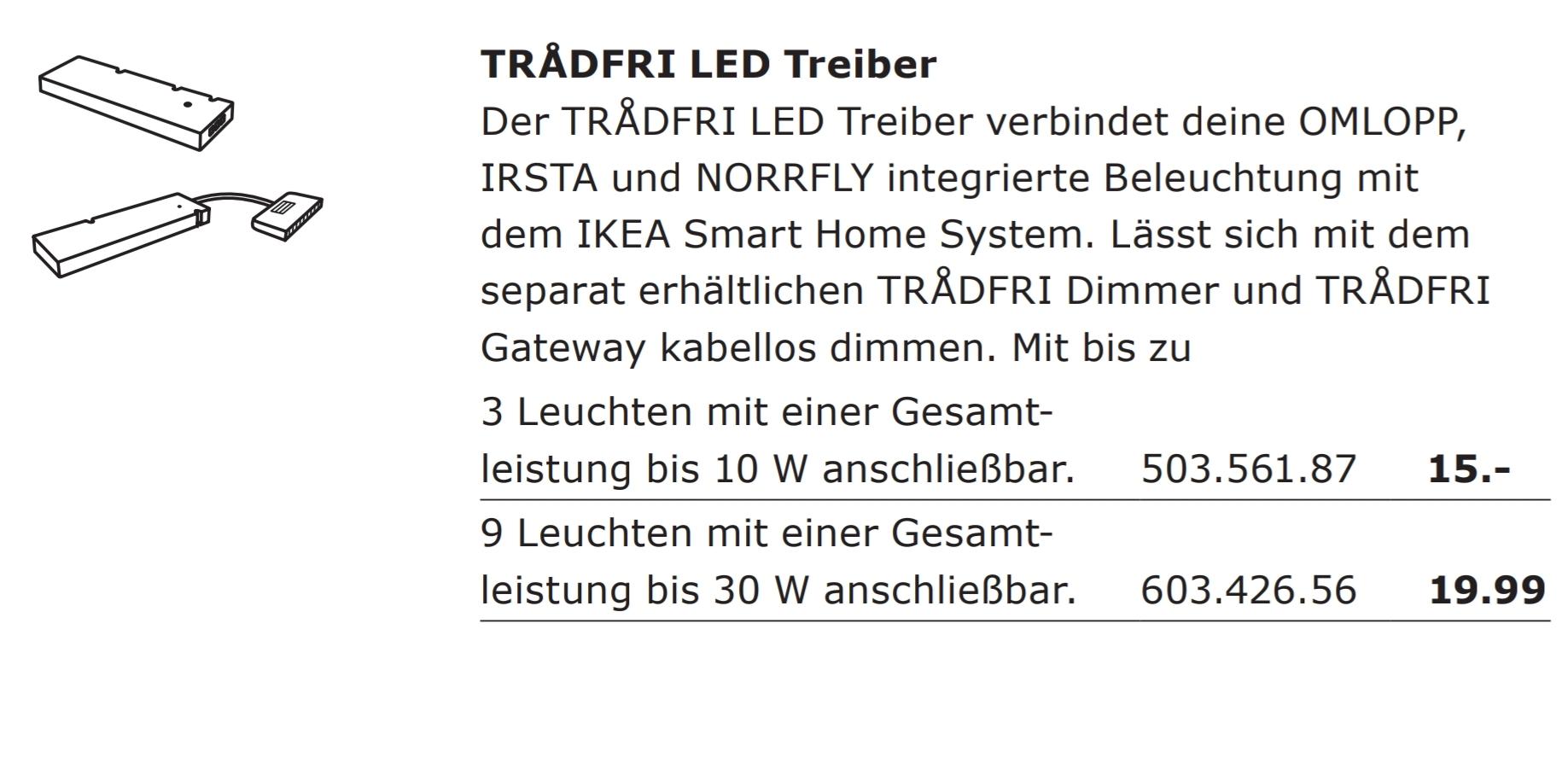 Neue Ikea LED Tranformatoren aus der Tradfri Serie - funktionieren ...